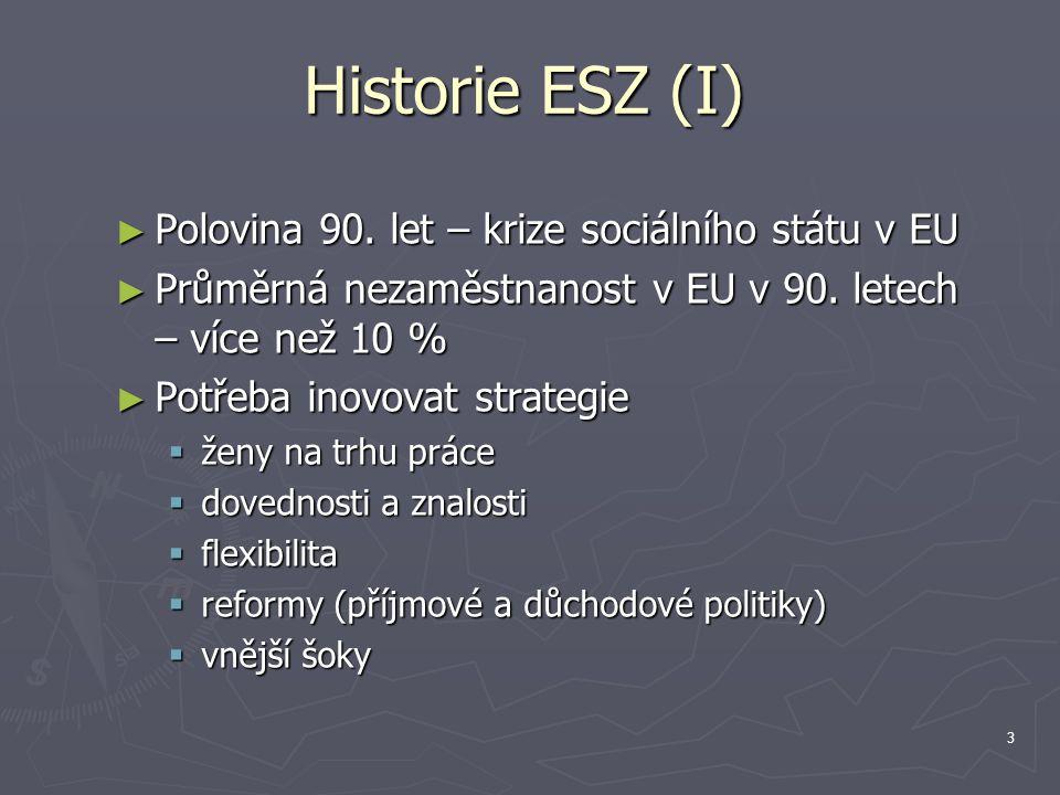 4 Historie ESZ (II) ► EU – nejlepší úroveň k řešení uvedených problémů - rámec.