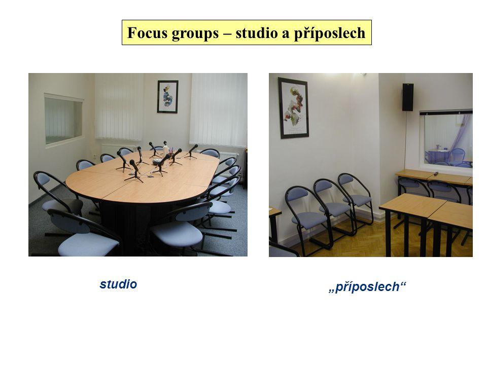 Focus groups Jedná se o nejčastěji používanou techniku sběru dat v kvalitativním výzkumu, která našla své uplatnění zejména v neakademickém sektoru. Z
