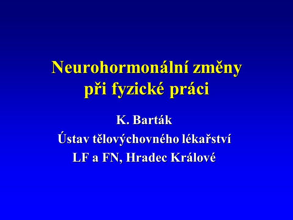 Neurohormonální změny při fyzické práci K.