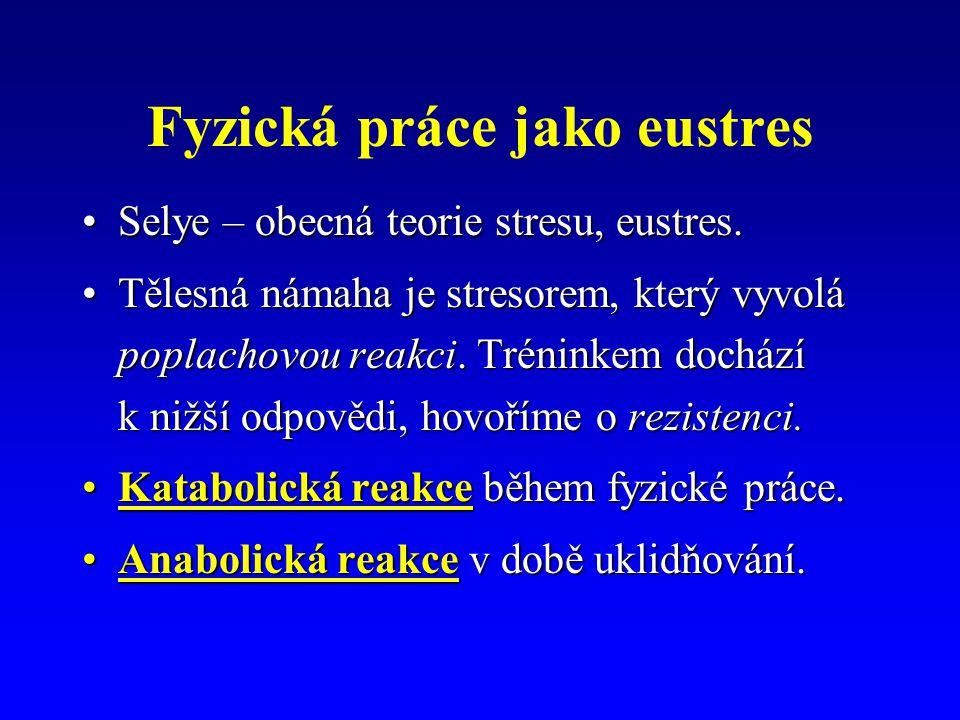 Fyzická práce jako eustres Selye – obecná teorie stresu, eustres.Selye – obecná teorie stresu, eustres.