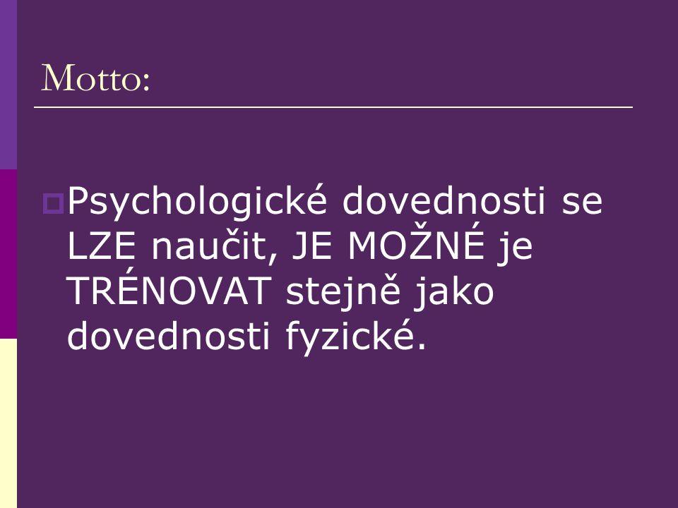 Špatný výkon = je třeba více trénovat  Reálným problémem je ovšem nedostatek psychologických dovedností, NE technických dovedností či kondičních předpokladů!!.