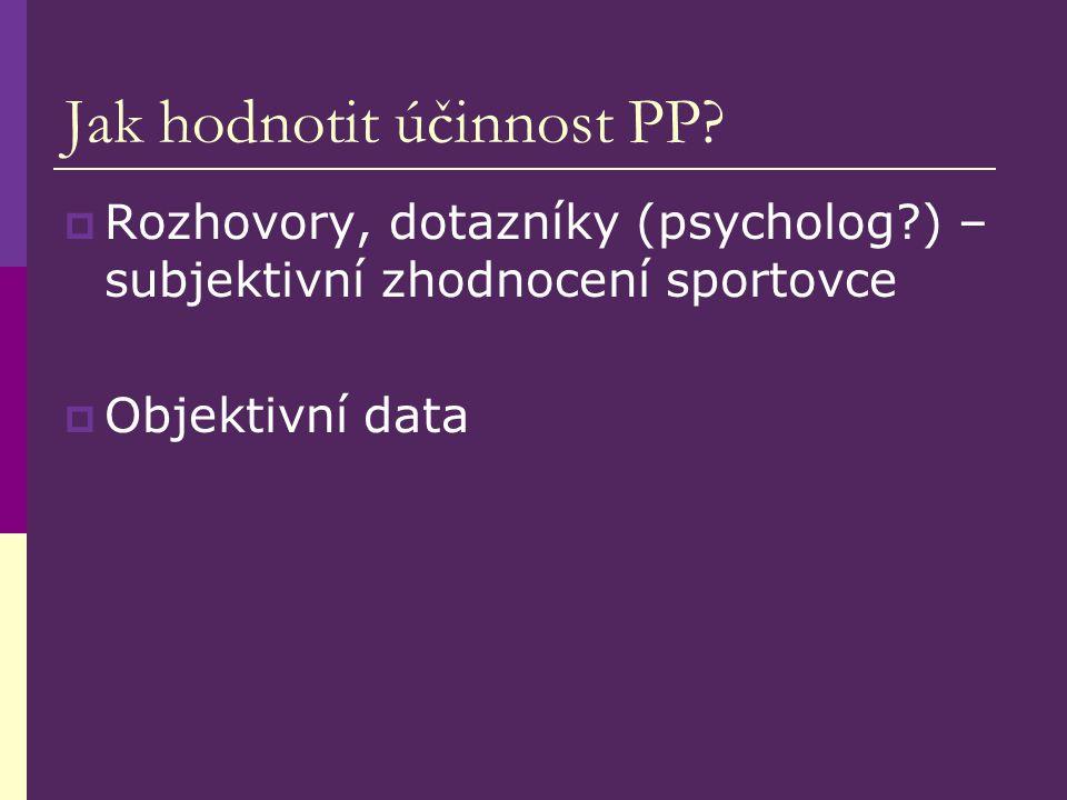 Jak hodnotit účinnost PP.