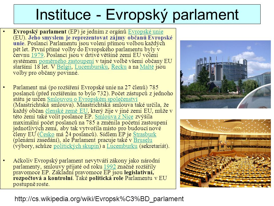 Monitoring of the decision-making process between institutions PreLex, the database on inter-institutional procedures follows the major stages of the decision-making process between the Commission and the other institutions: –stage of the procedure; –decisions of the institutions; –persons names; –services responsible; –references of documents …etc, –and monitors the works of the various institutions involved (European Parliament, Council, ESC, Committee of the Regions, European central Bank, Court of Justice, etc.).