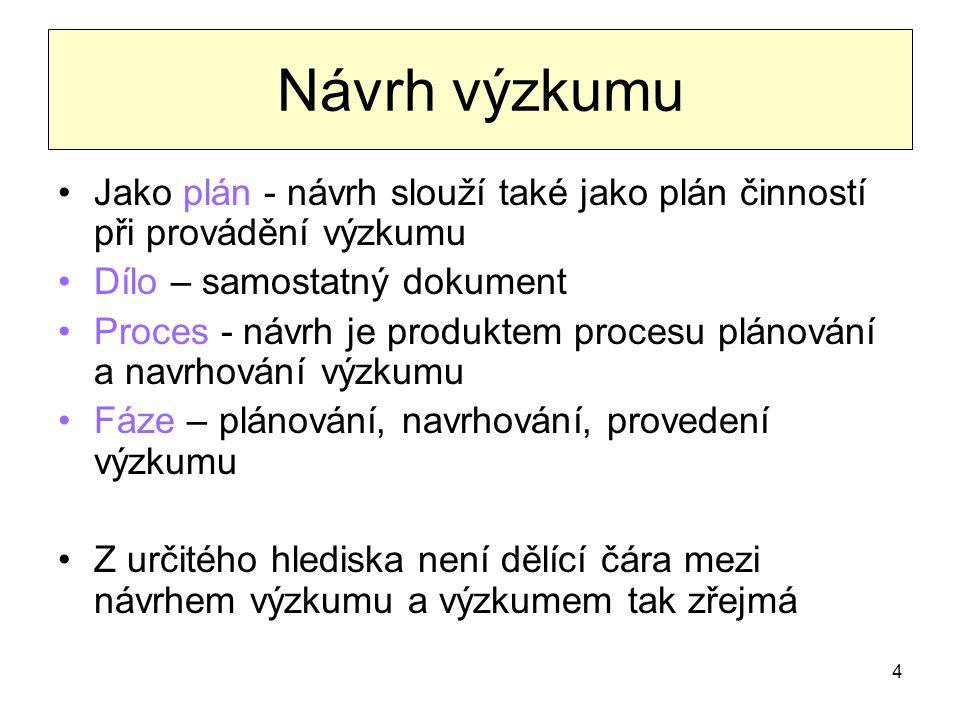 15 Objektivní a subjektivní pojetí problému I.
