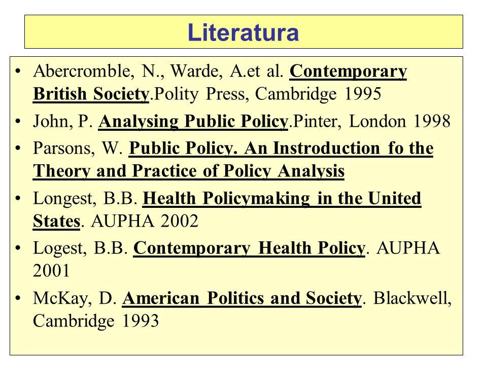 Literatura Abercromble, N., Warde, A.et al.