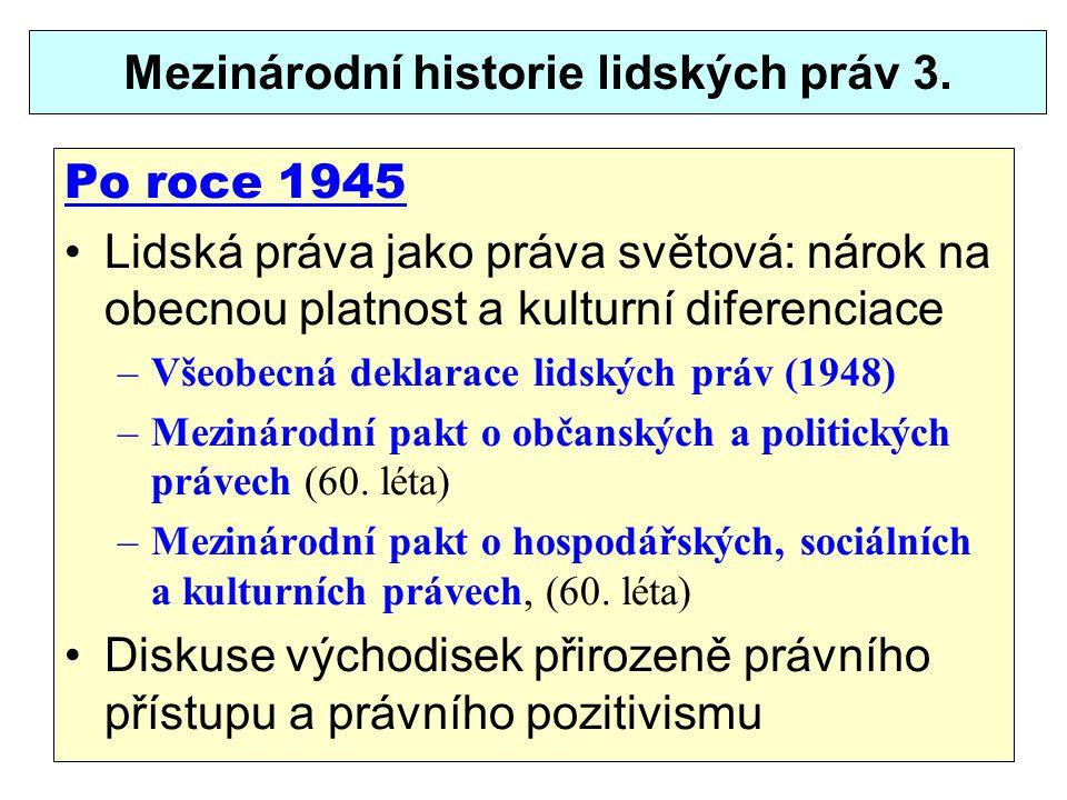 Historie lidských práv v ČR 1.