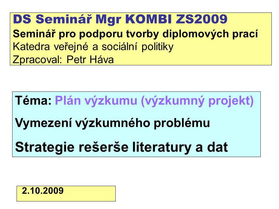 Ukázky vymezení problému v úvodu práce Králová, V.
