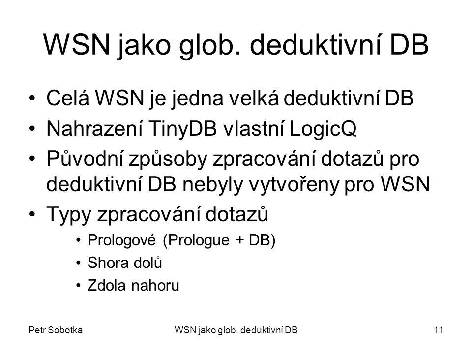 Petr SobotkaWSN jako glob. deduktivní DB11 WSN jako glob.