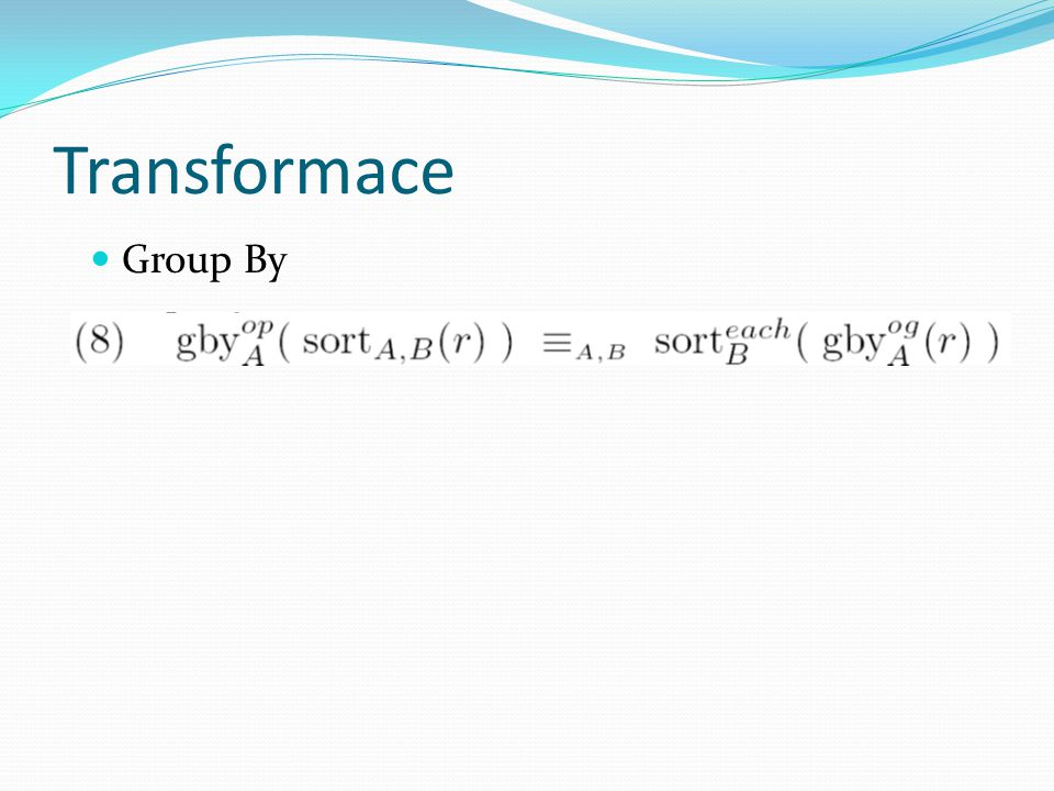Transformace Group By