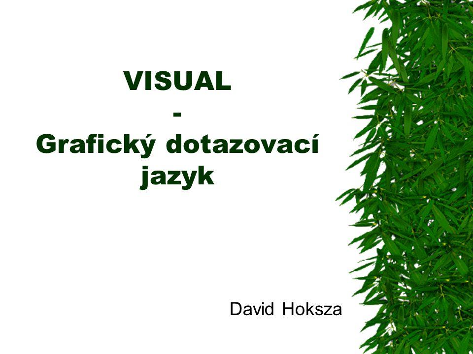 VISUAL - Grafický dotazovací jazyk David Hoksza