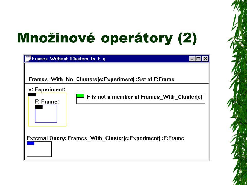 Množinové operátory (2)