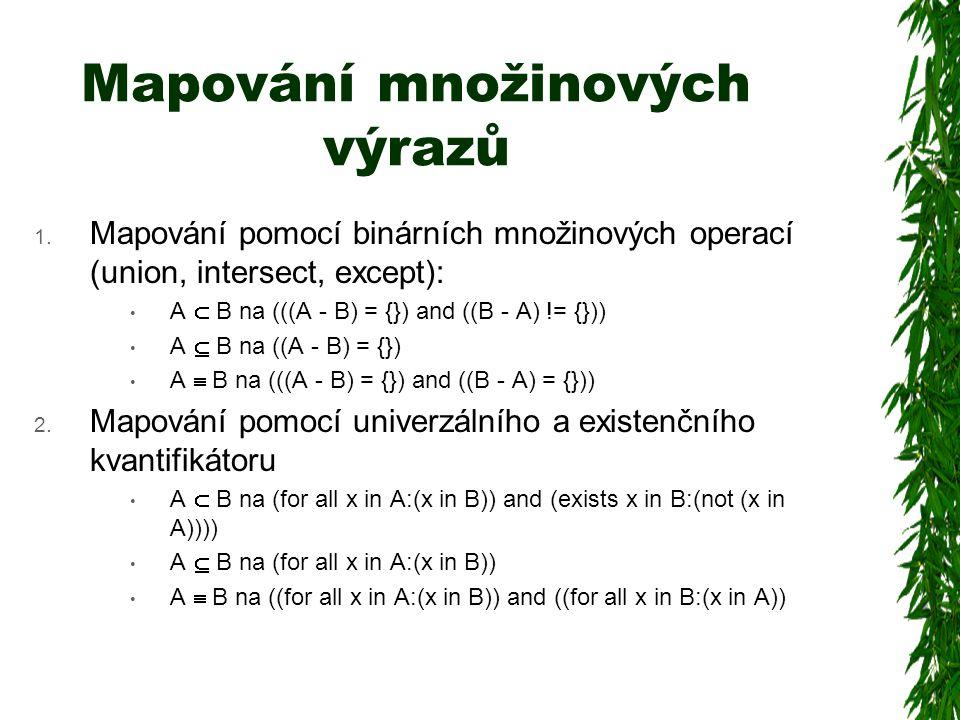 Mapování množinových výrazů 1.