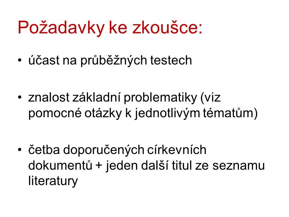 Literatura – povinná 1.L.Ovečka – M. Ryšková: Proč studovat teologii.