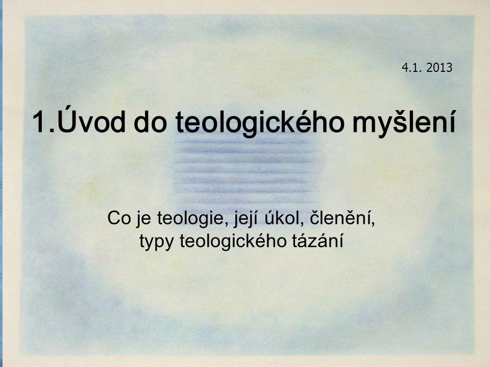 = trojí teologie jako odpověd na trojí potřebu člověka vzhledem k Bohu: představit si boha → mýtus ustavit s ním vztah → rituál (>zákon) poznat, jaký je bůh→ filozofická úvaha