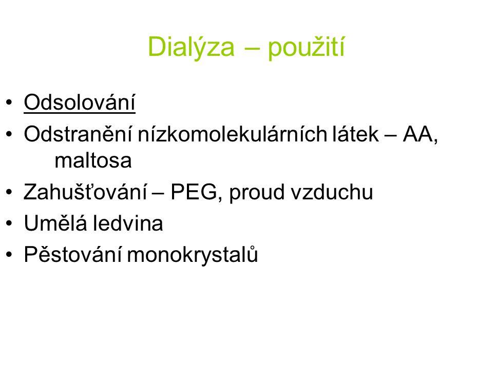 Dialýza - příklad