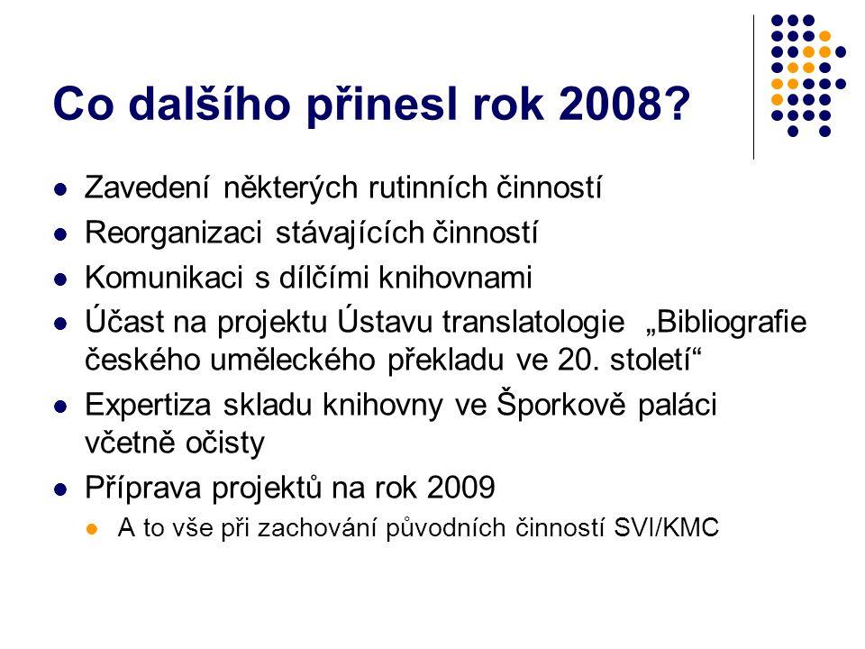Co dalšího přinesl rok 2008.