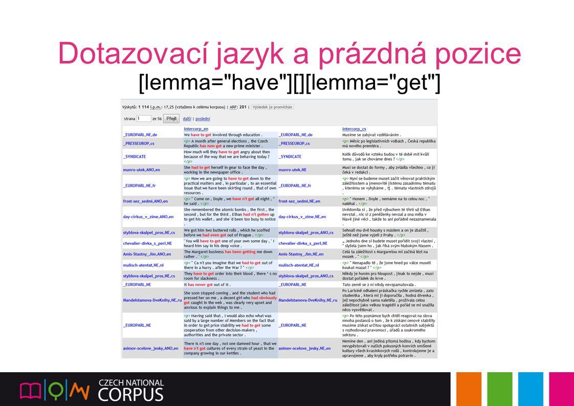 Dotazovací jazyk a prázdná pozice [lemma=