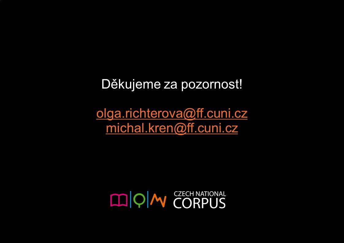 Děkujeme za pozornost! olga.richterova@ff.cuni.cz michal.kren@ff.cuni.cz