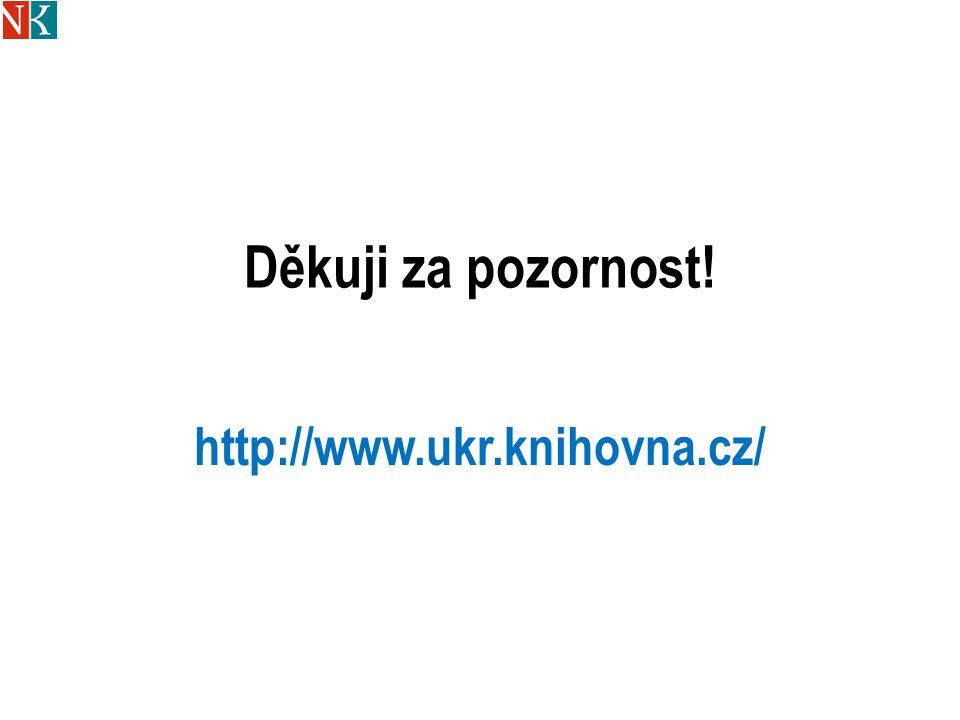Děkuji za pozornost! http://www.ukr.knihovna.cz/