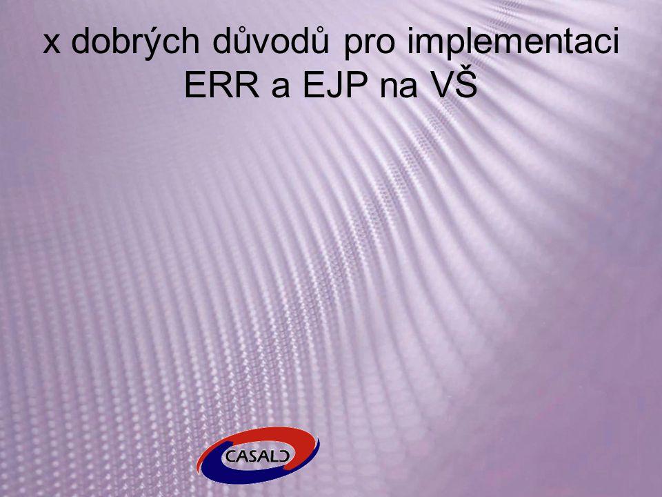 x dobrých důvodů pro implementaci ERR a EJP na VŠ