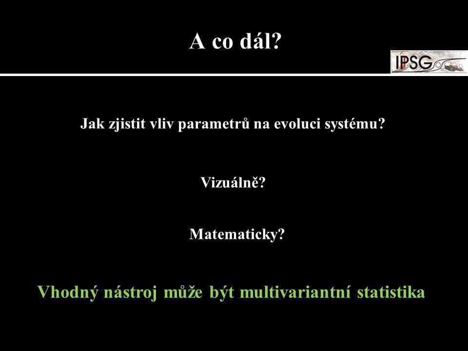 Jak zjistit vliv parametrů na evoluci systému? Vizuálně? Matematicky? Vhodný nástroj může být multivariantní statistika