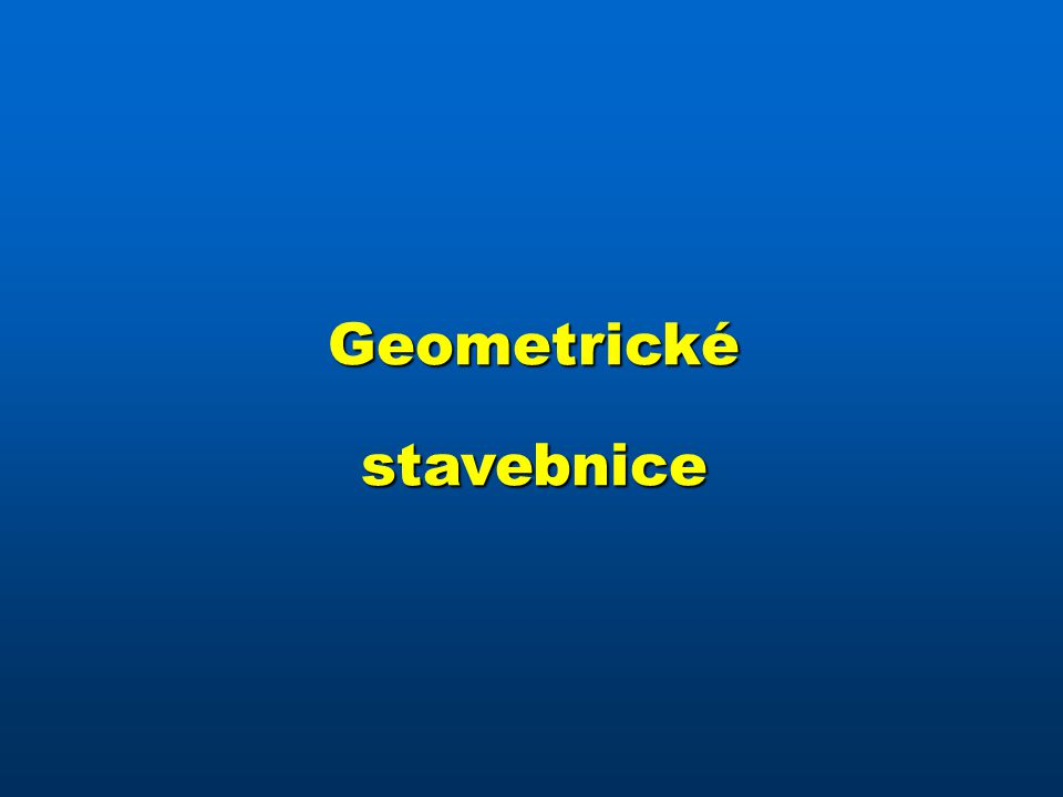 Geometrickéstavebnice