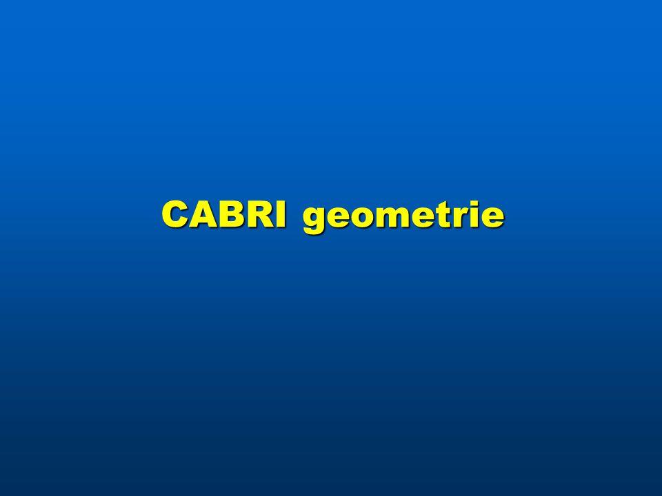 CABRI geometrie