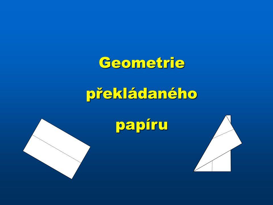 Geometriepřekládanéhopapíru