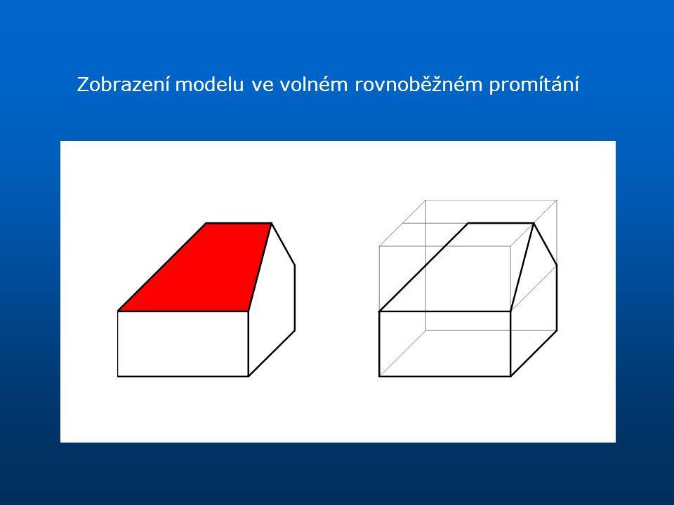 Zobrazení modelu ve volném rovnoběžném promítání