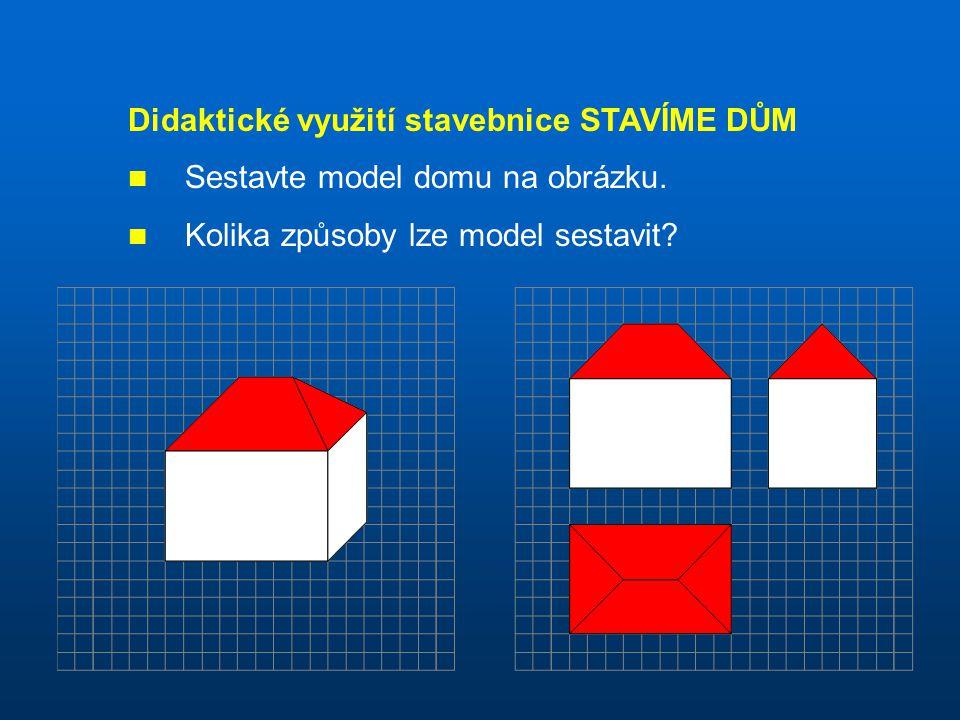 Didaktické využití stavebnice STAVÍME DŮM Sestavte model domu na obrázku. Kolika způsoby lze model sestavit?