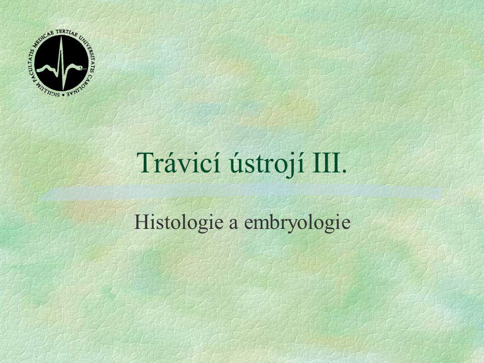 Trávicí ústrojí III. Histologie a embryologie