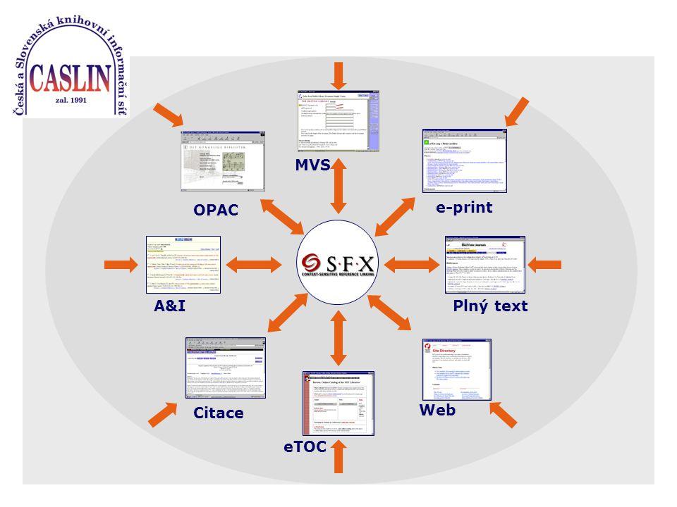 A&I e-print Plný text OPAC MVS Citace Web eTOC