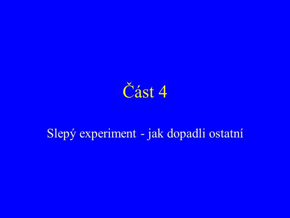 Část 4 Slepý experiment - jak dopadli ostatní