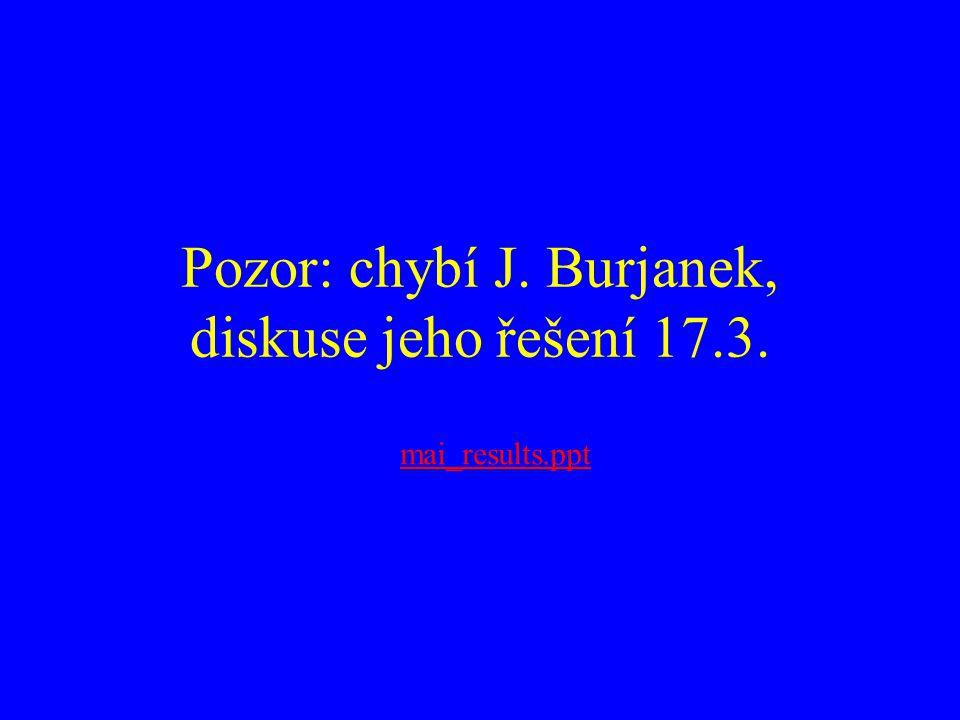 Pozor: chybí J. Burjanek, diskuse jeho řešení 17.3. mai_results.ppt
