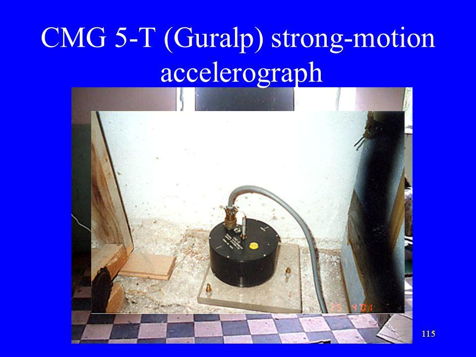 115 CMG 5-T (Guralp) strong-motion accelerograph