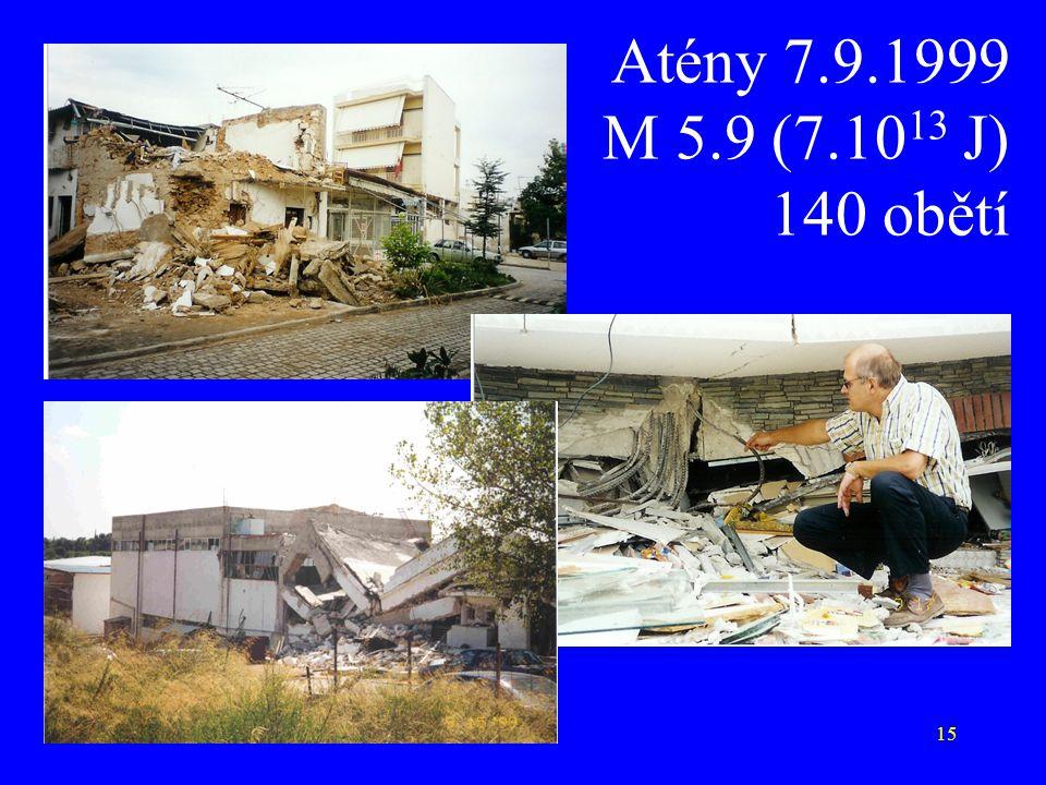 15 Atény 7.9.1999 M 5.9 (7.10 13 J) 140 obětí