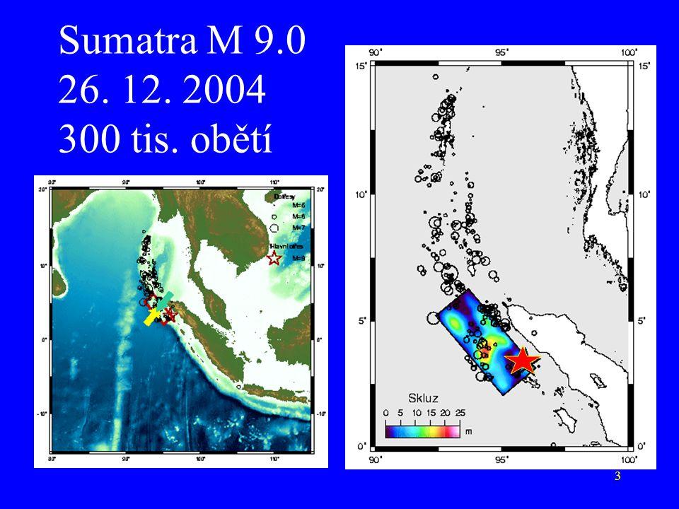 3 Sumatra M 9.0 26. 12. 2004 300 tis. obětí