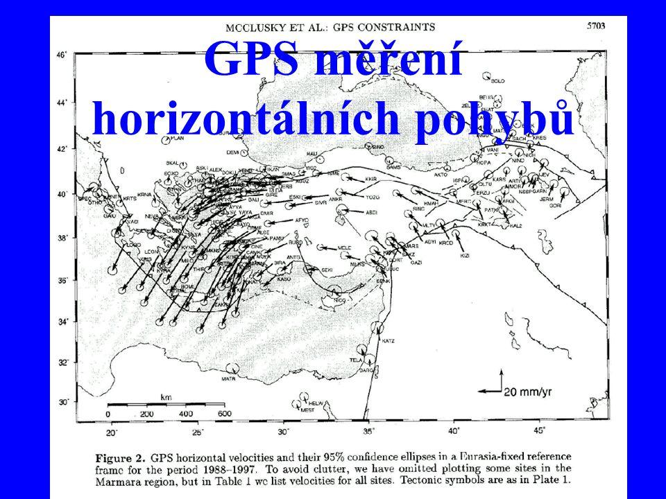 36 GPS měření horizontálních pohybů