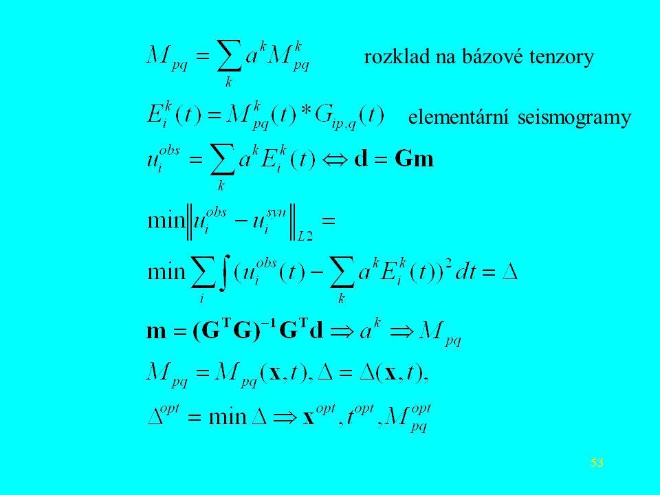 53 rozklad na bázové tenzory elementární seismogramy