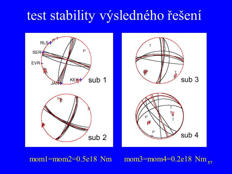 57 test stability výsledného řešení mom1=mom2=0.5e18 Nmmom3=mom4=0.2e18 Nm