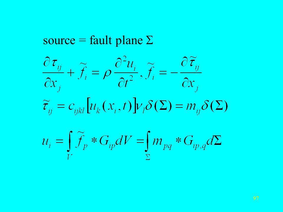 97 source = fault plane 