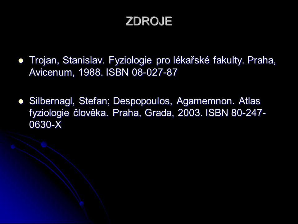 ZDROJE Trojan, Stanislav.Fyziologie pro lékařské fakulty.