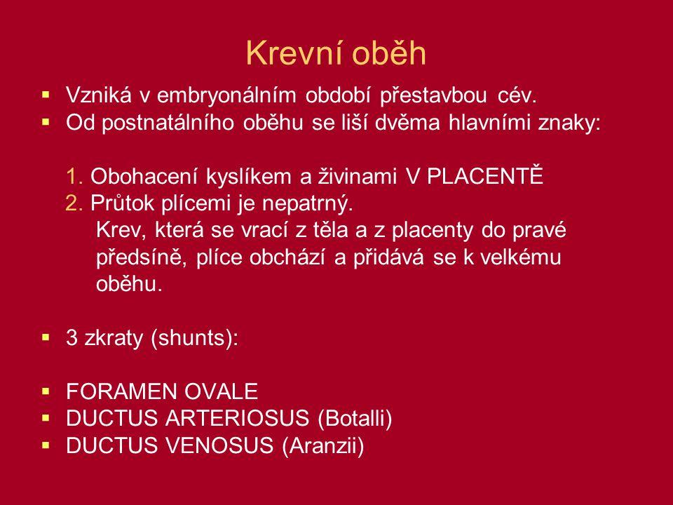 Nejčastější defekty  LEVO-PRAVÉ ZKRATY:  Persistující foramen ovale  Persistující ductus arteriosus  PRAVO-LEVÉ ZKRATY:  Fallotova tetralogie  Transpozice velkých cév