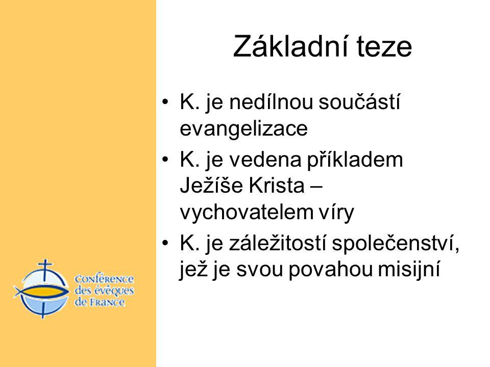 Základní teze K.je nedílnou součástí evangelizace K.