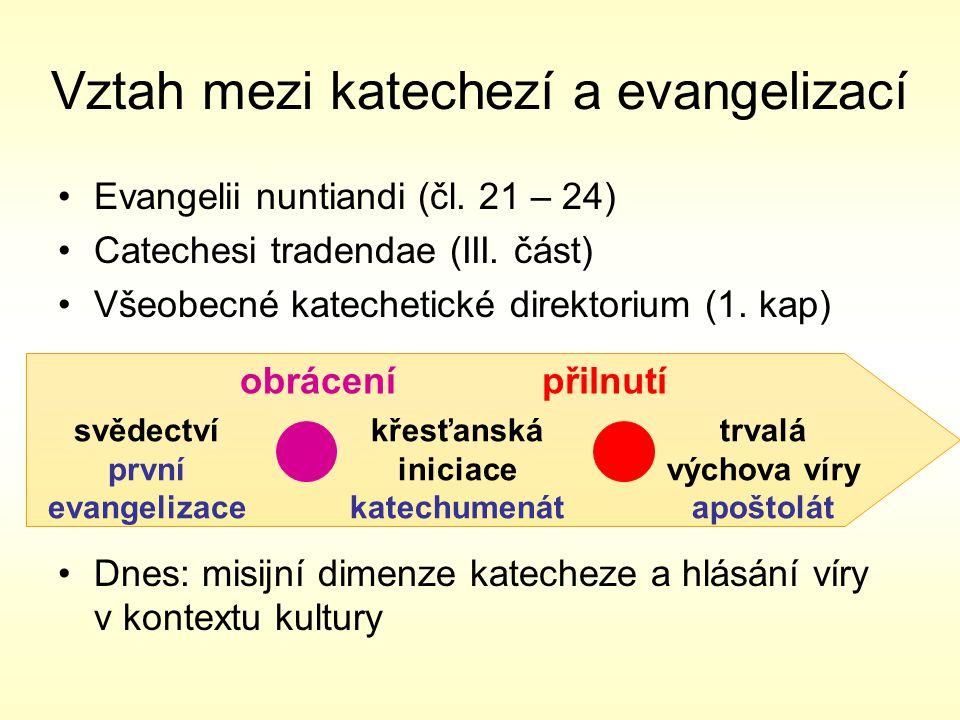 Evangelii nuntiandi (čl.21 – 24) Catechesi tradendae (III.