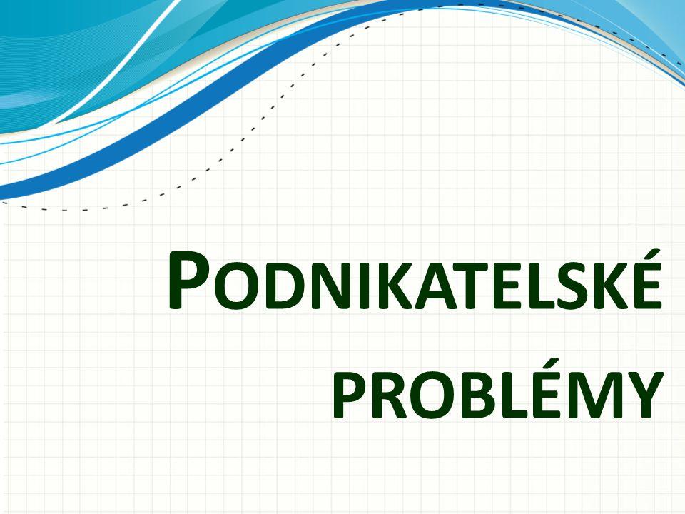 P ODNIKATELSKÉ PROBLÉMY