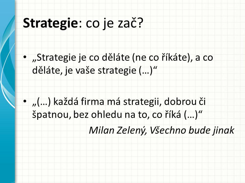 Strategie: co je zač.