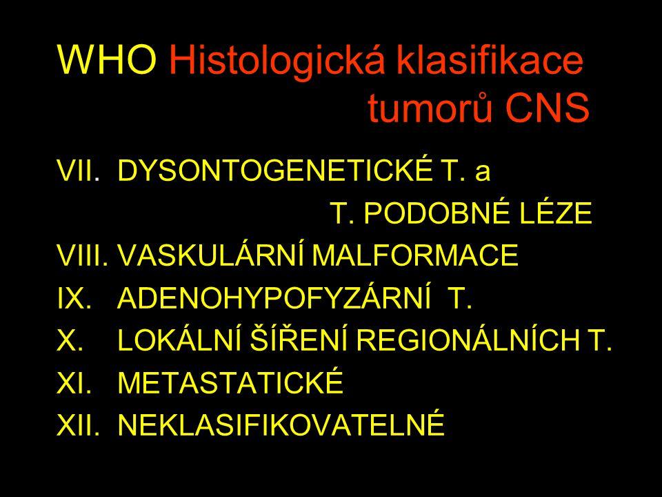 WHO Histologická klasifikace tumorů CNS VII.DYSONTOGENETICKÉ T.