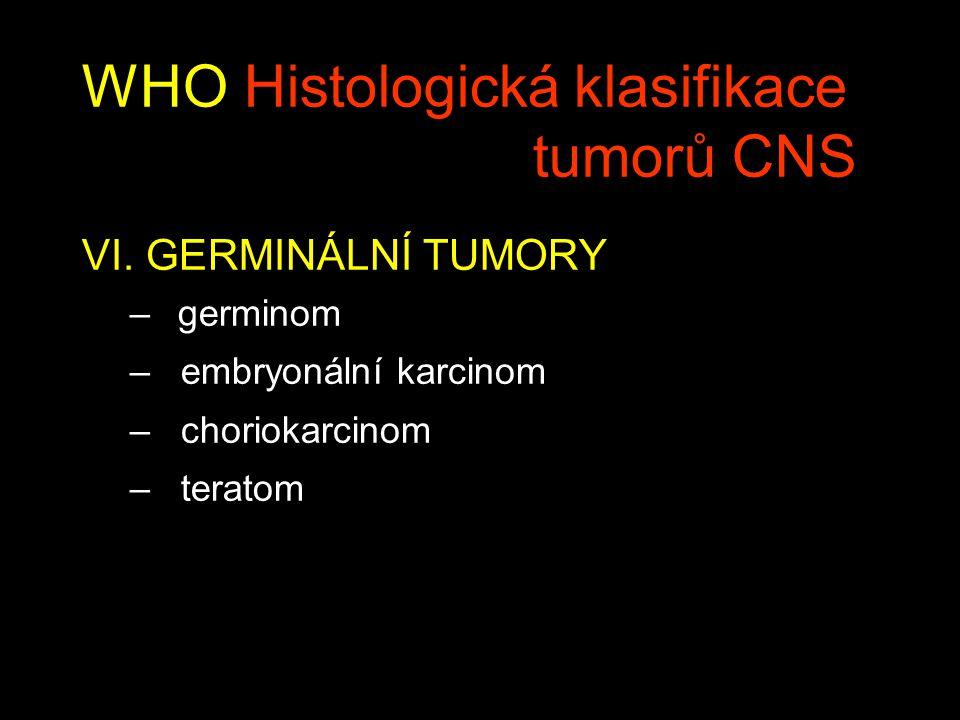WHO Histologická klasifikace tumorů CNS VI.