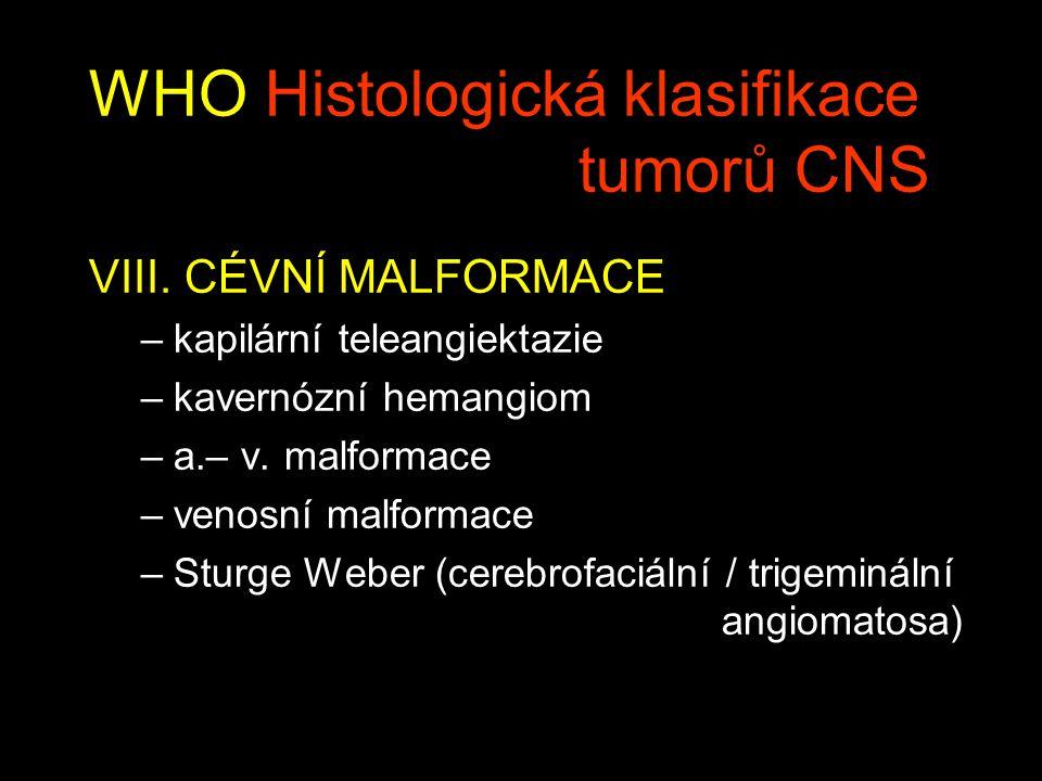WHO Histologická klasifikace tumorů CNS VIII.